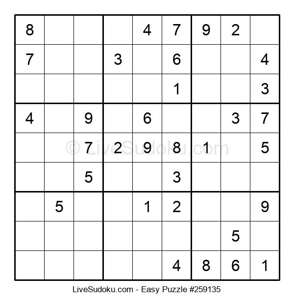 Beginners Puzzle #259135