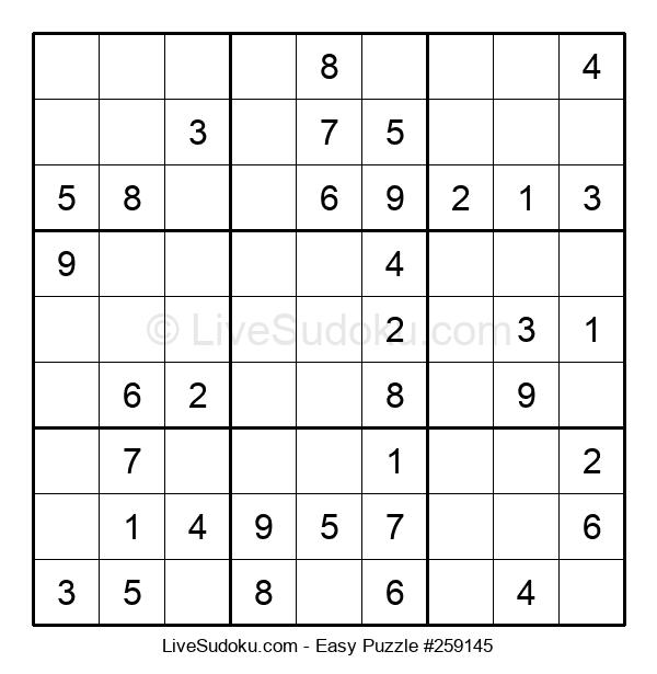 Beginners Puzzle #259145