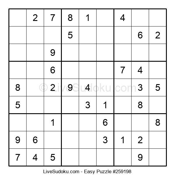 Beginners Puzzle #259198