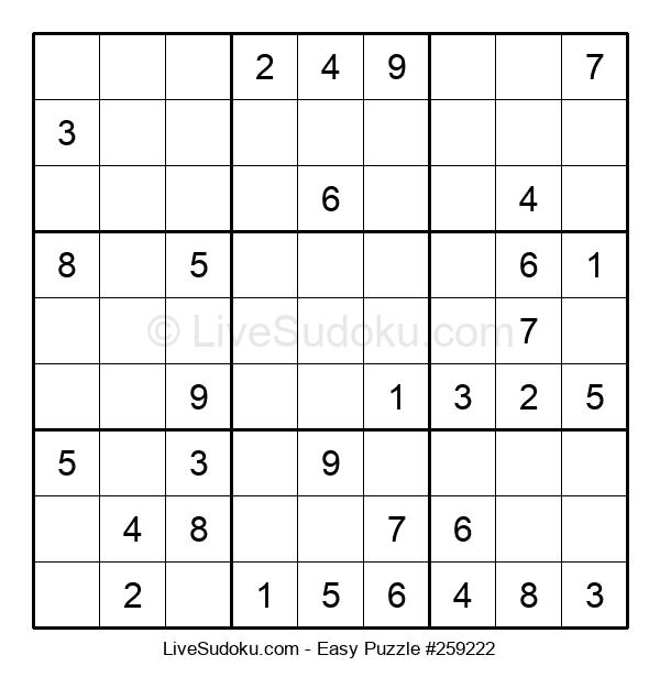 Beginners Puzzle #259222
