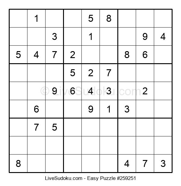 Beginners Puzzle #259251