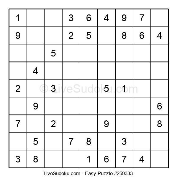 Beginners Puzzle #259333