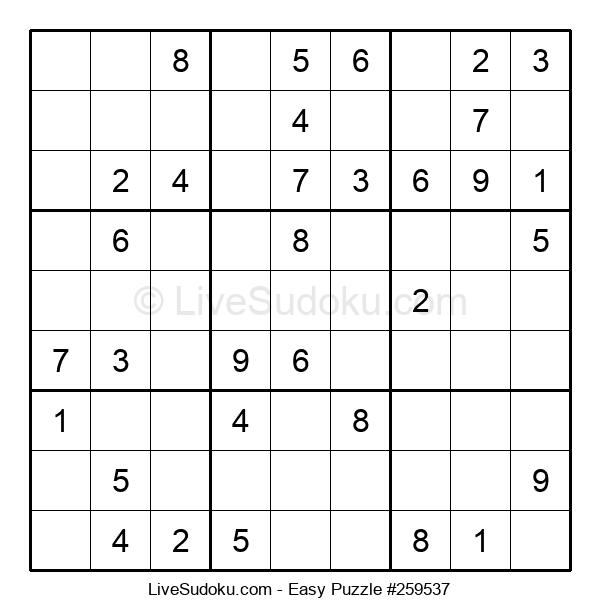 Beginners Puzzle #259537