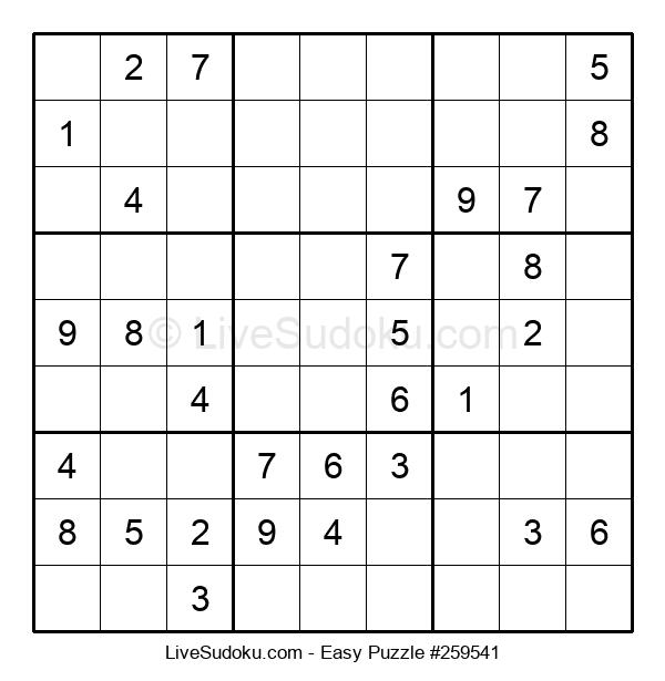 Beginners Puzzle #259541