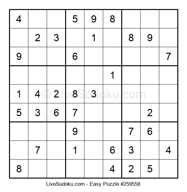 Beginners Puzzle #259558
