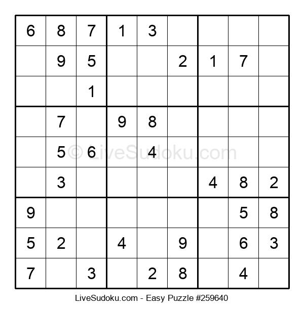 Beginners Puzzle #259640