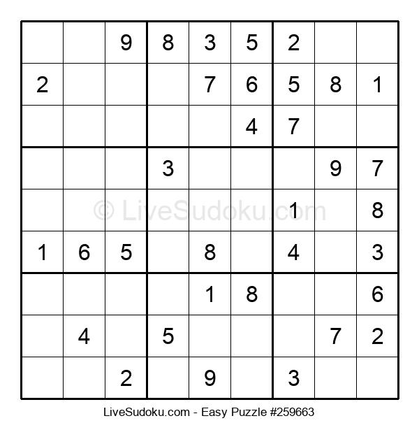 Beginners Puzzle #259663