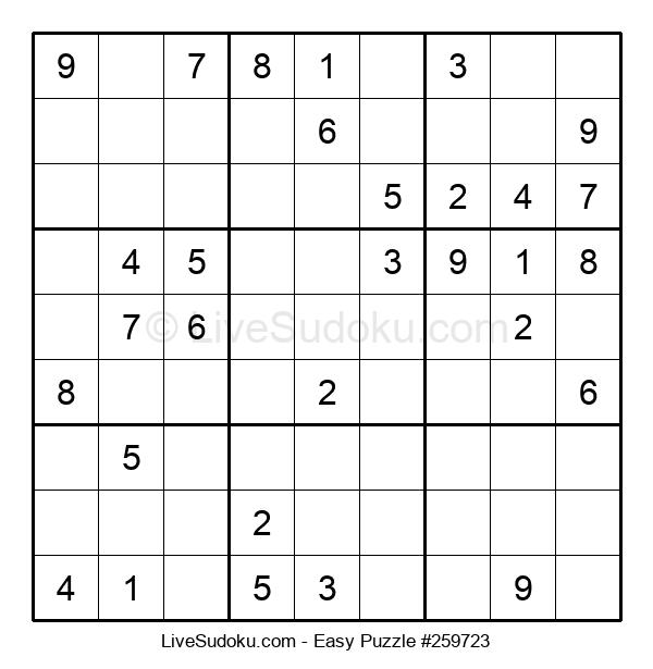 Beginners Puzzle #259723