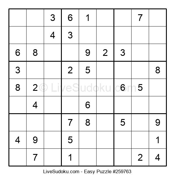 Beginners Puzzle #259763