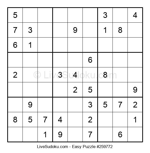 Beginners Puzzle #259772