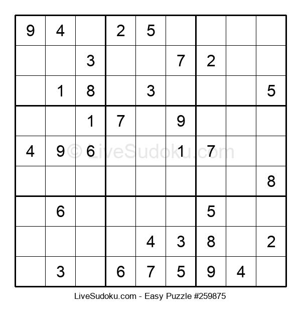Beginners Puzzle #259875
