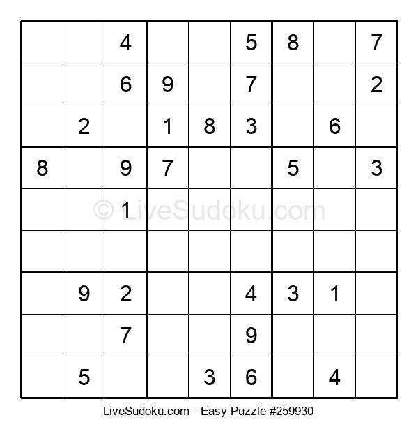 Beginners Puzzle #259930