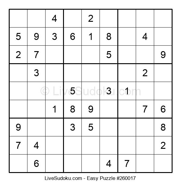 Beginners Puzzle #260017