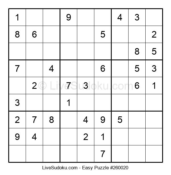 Beginners Puzzle #260020