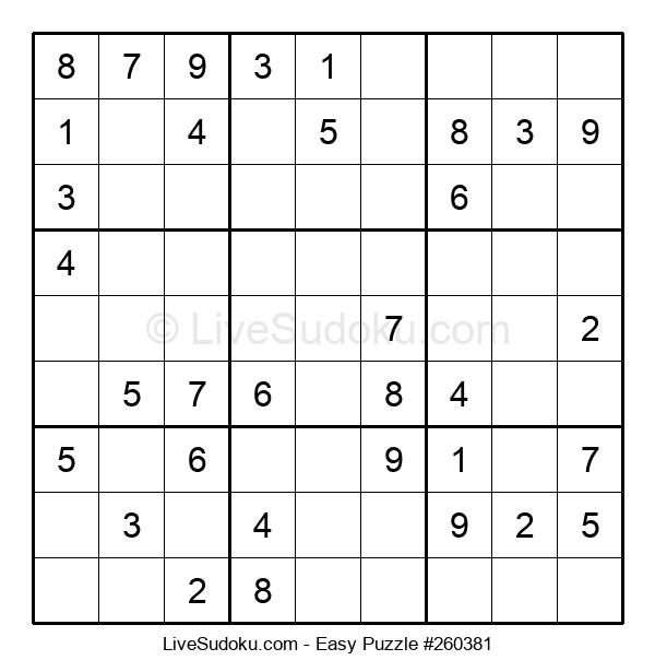 Beginners Puzzle #260381