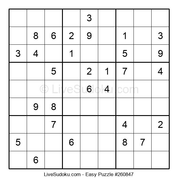 Beginners Puzzle #260847