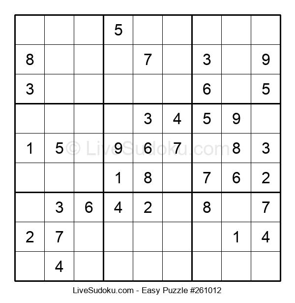 Beginners Puzzle #261012