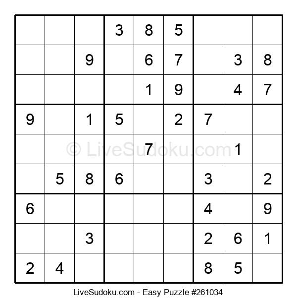 Beginners Puzzle #261034