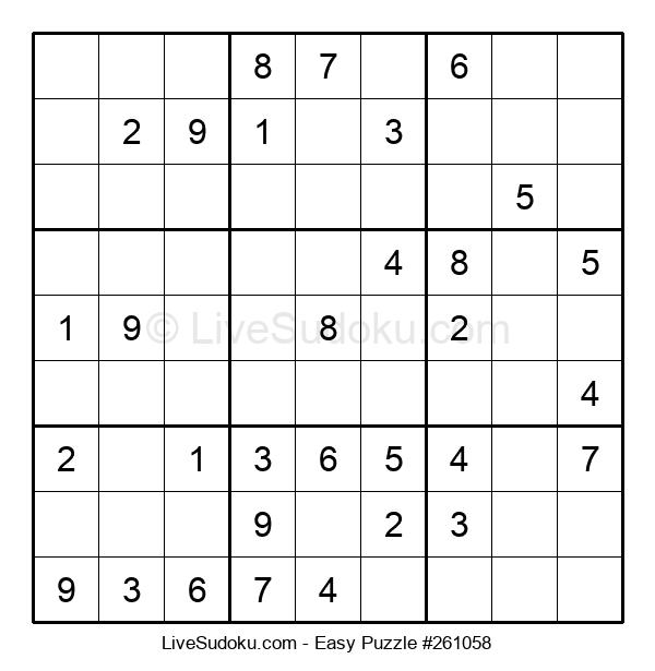 Beginners Puzzle #261058