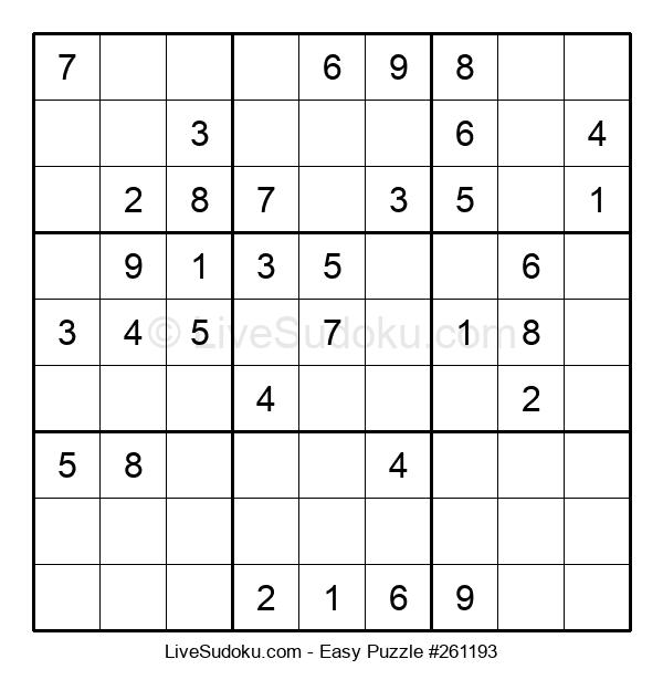 Beginners Puzzle #261193