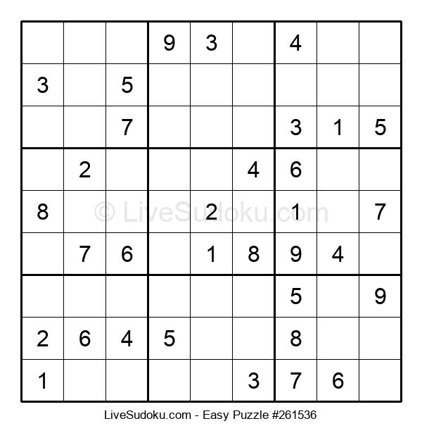 Beginners Puzzle #261536