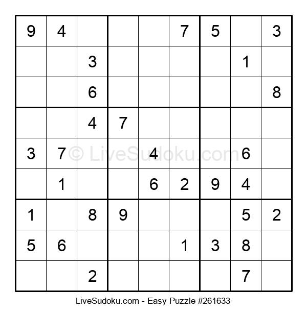 Beginners Puzzle #261633