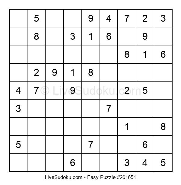 Beginners Puzzle #261651