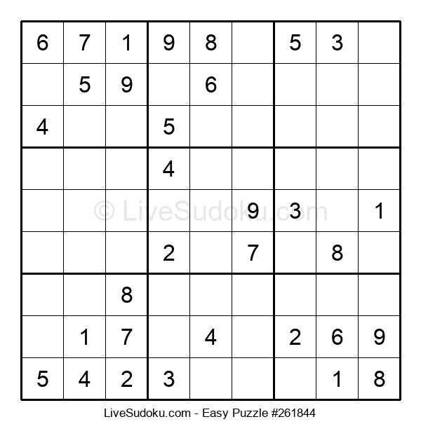 Beginners Puzzle #261844