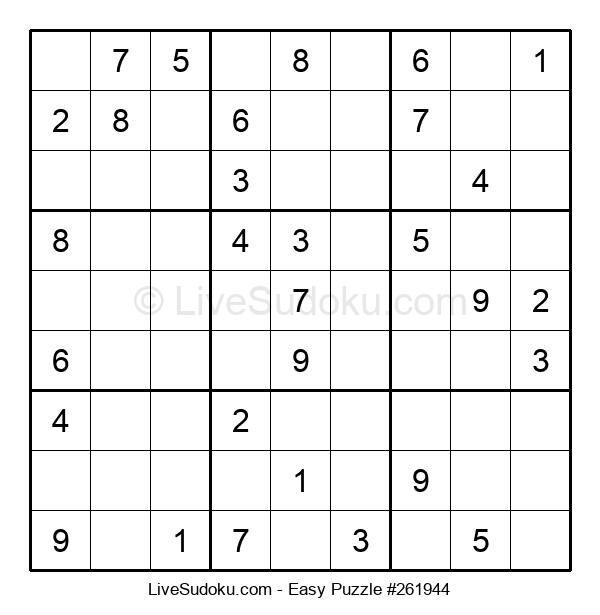 Beginners Puzzle #261944