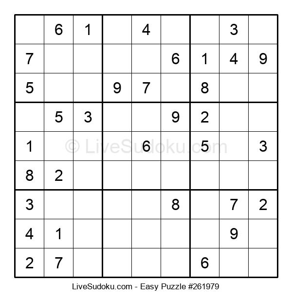 Beginners Puzzle #261979