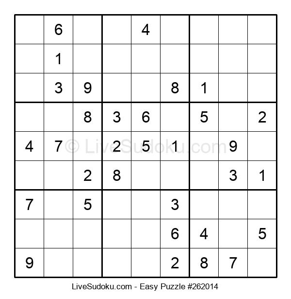 Beginners Puzzle #262014