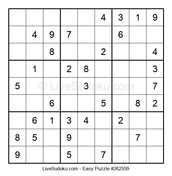 Beginners Puzzle #262559