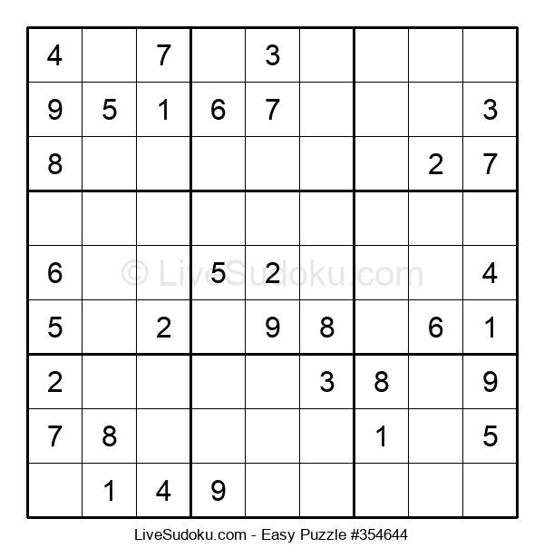 Beginners Puzzle #354644