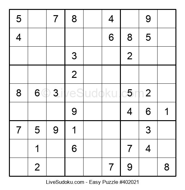 Beginners Puzzle #402021