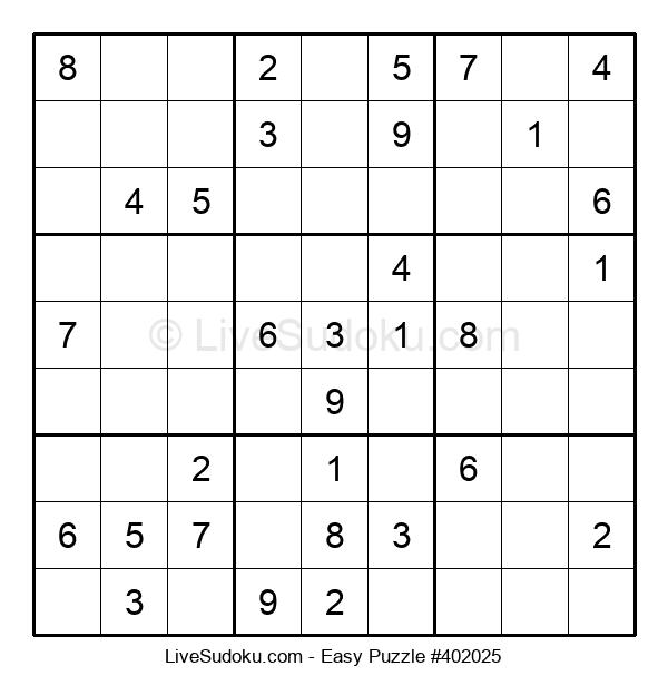 Beginners Puzzle #402025