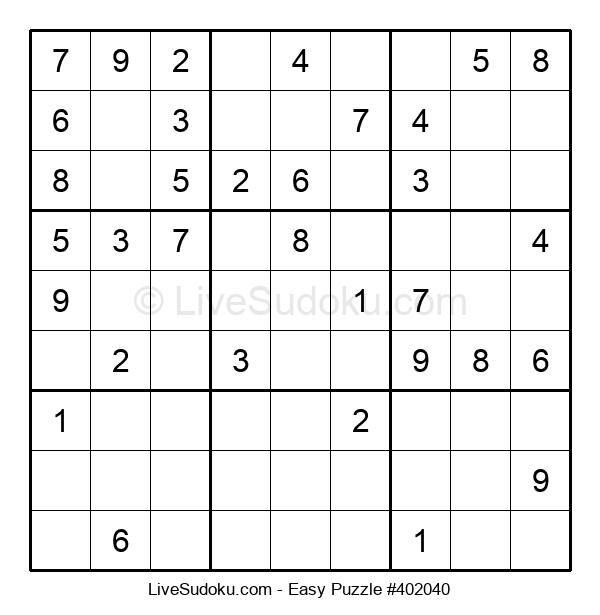 Beginners Puzzle #402040