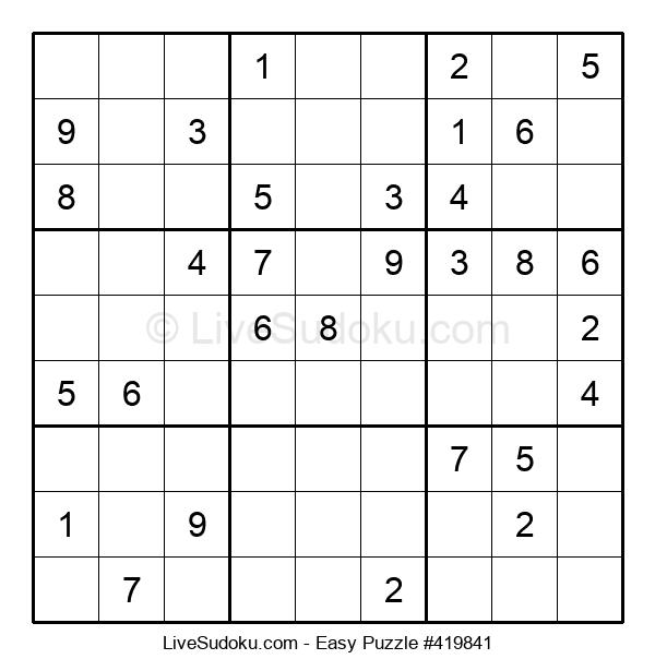 Beginners Puzzle #419841