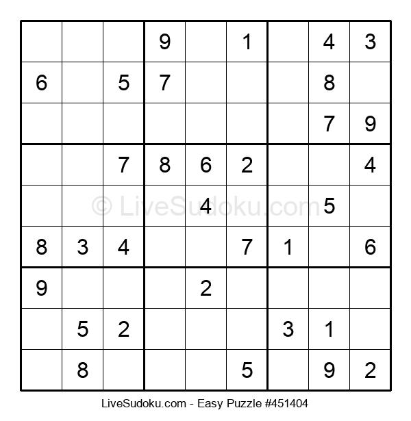 Beginners Puzzle #451404