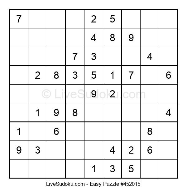 Beginners Puzzle #452015
