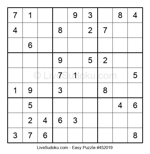 Beginners Puzzle #452019