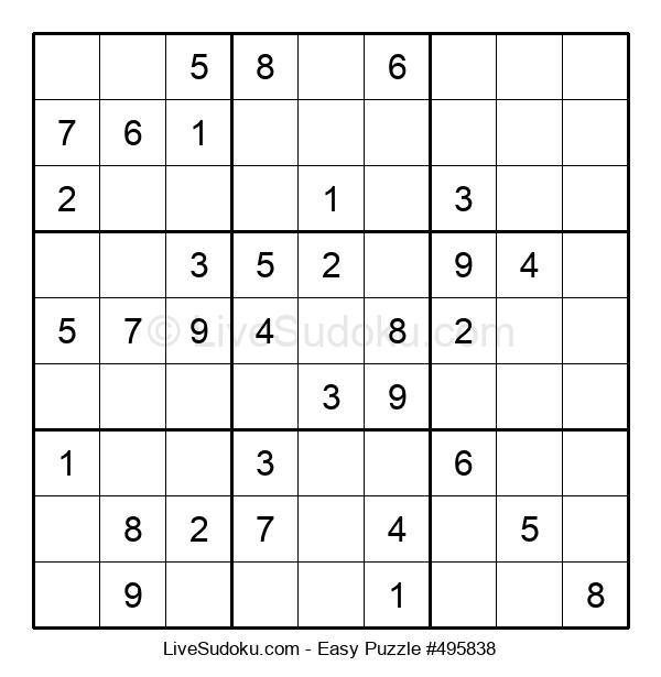Beginners Puzzle #495838