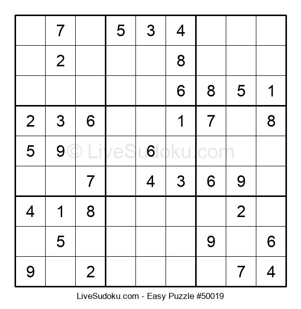 Beginners Puzzle #50019