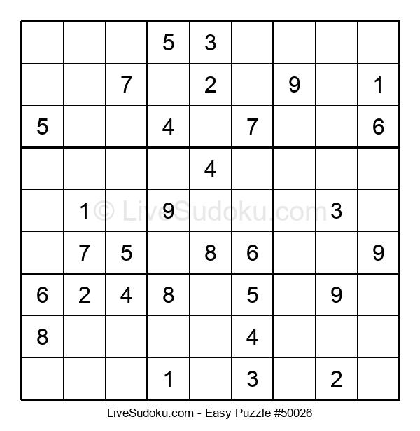 Beginners Puzzle #50026