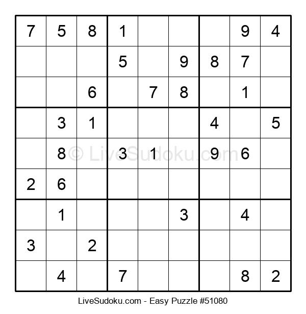 Beginners Puzzle #51080