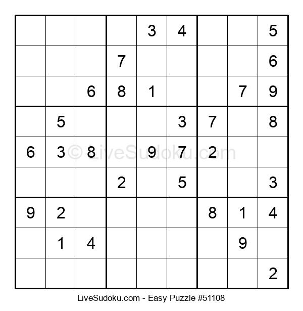 Beginners Puzzle #51108