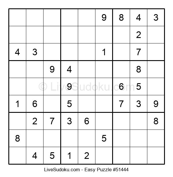 Beginners Puzzle #51444