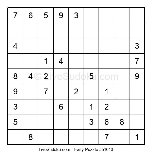 Beginners Puzzle #51640