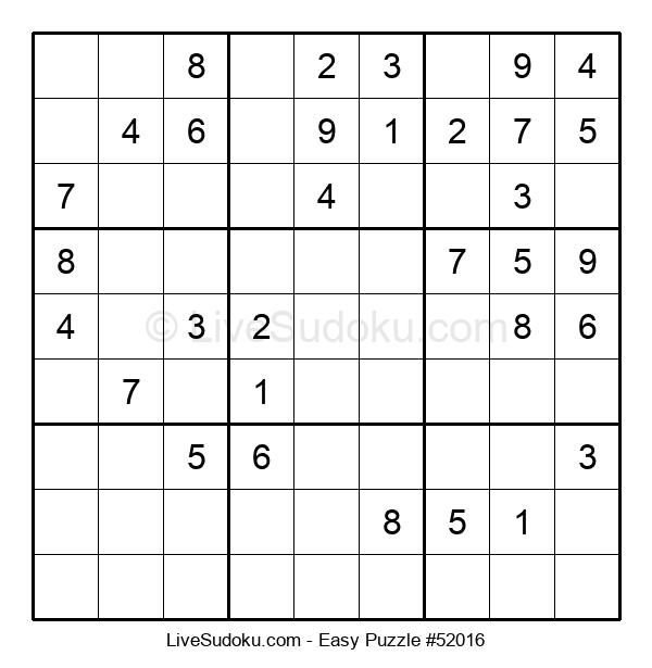 Beginners Puzzle #52016