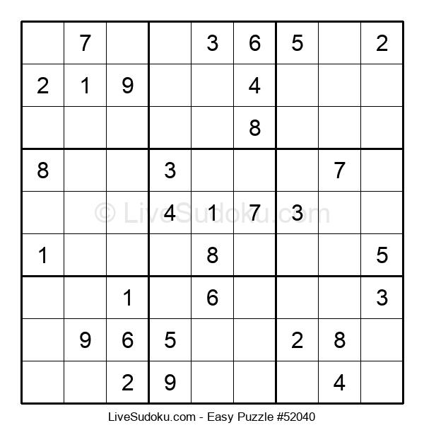 Beginners Puzzle #52040