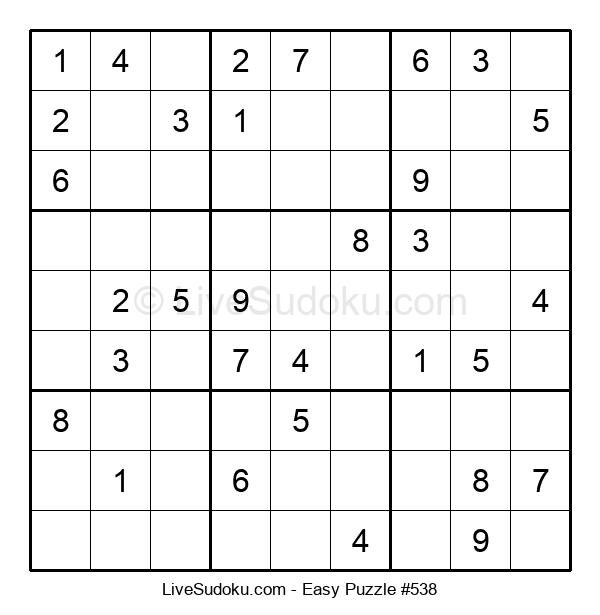 Beginners Puzzle #538